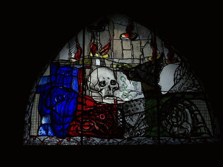 Tympanonfenster Totentanzkapelle Marienkirche Lübeck
