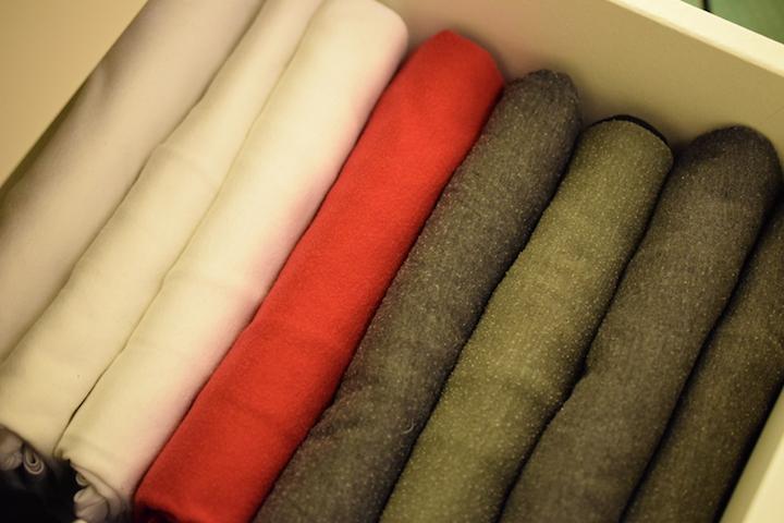 zusammengelegte Shirts