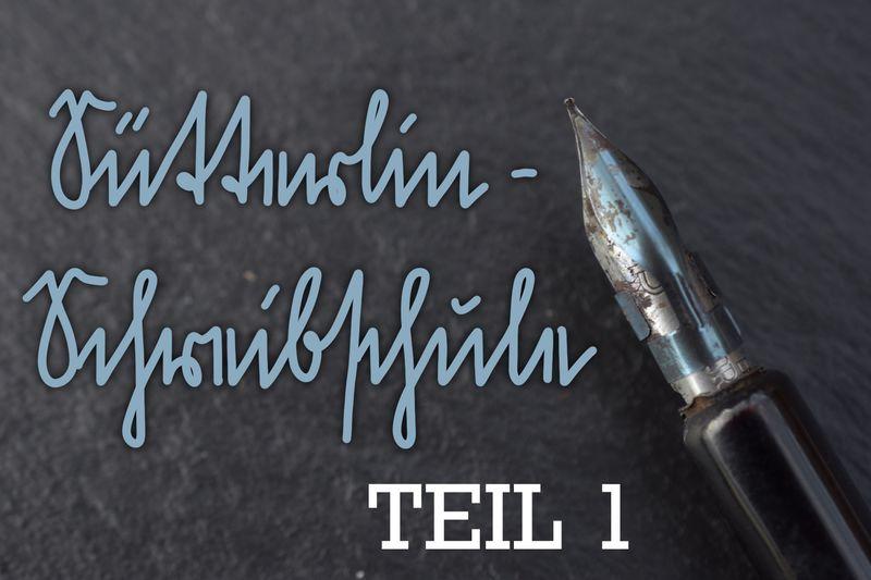 Beitragsbild Sütterlin-Schreibschule