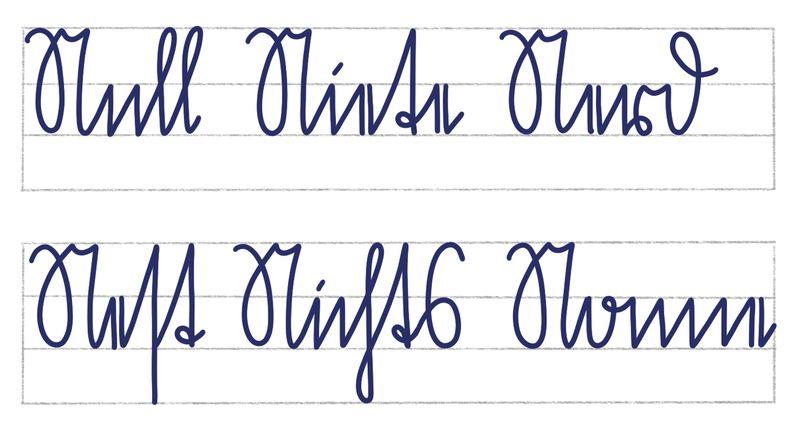 Schreibübung Sütterlin Großbuchstabe N