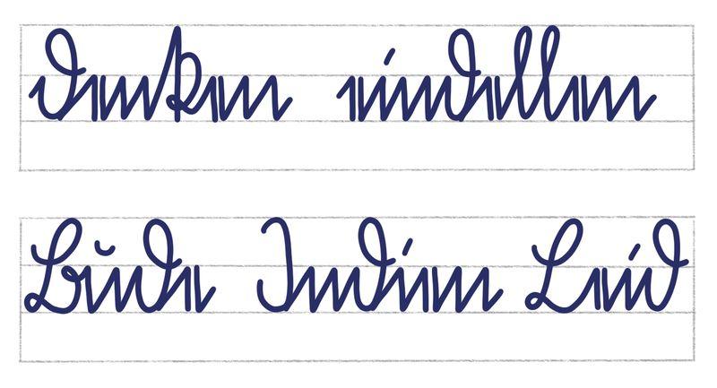 Sütterlinbuchstaben kleines d