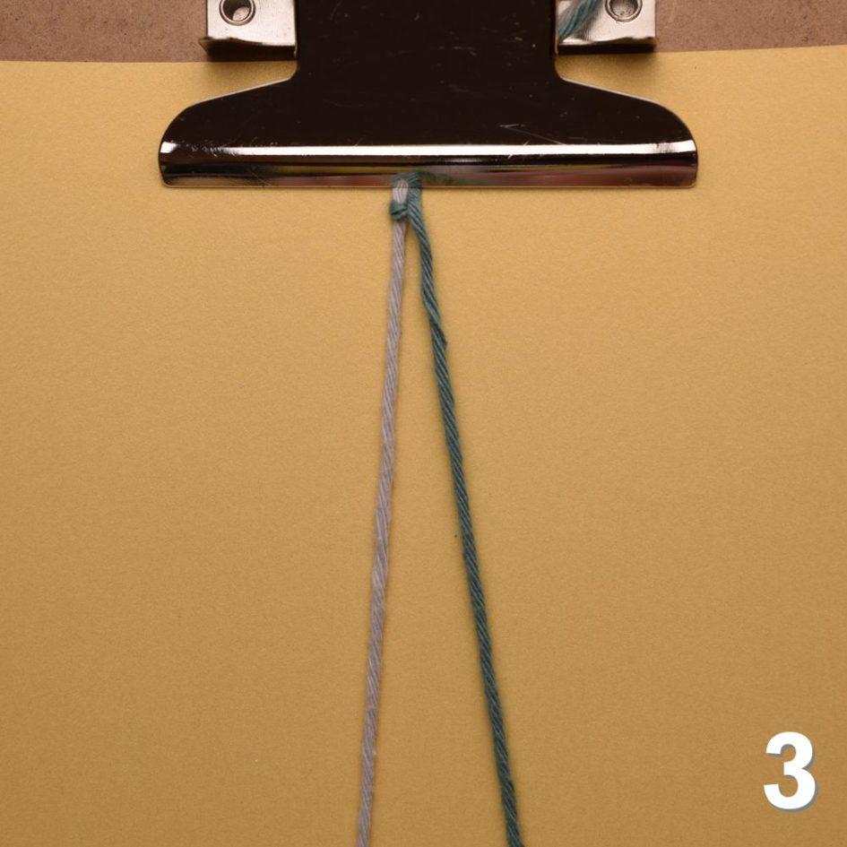 Knoten für Freundschaftsbänder: Links-Knoten