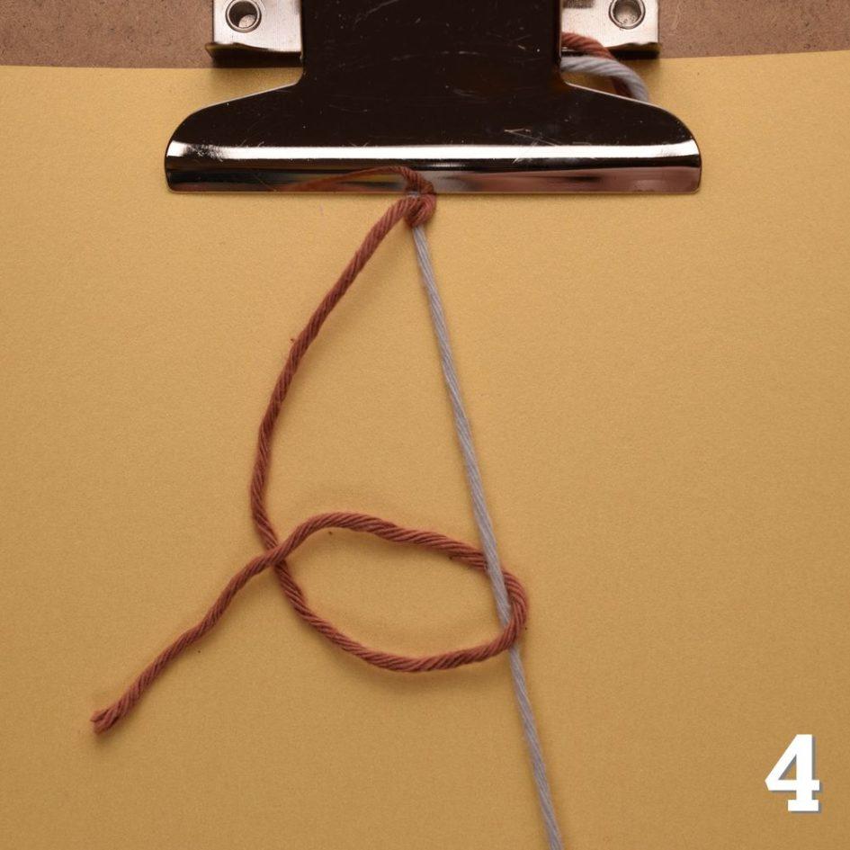 Freundschaftsbänder knüpfen: Links-Rechts-Knoten