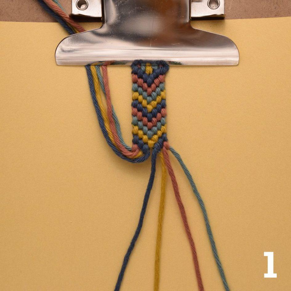 Flechten mit 4 Fäden